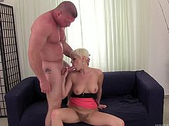 Make sure you have a look at this hardcore scene where the horny blonde Laura Sweet is fucked silly until her ass is covered by cum.