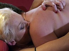 Watch these kinky babes being nailed by their lovers in this hot clip that shows them taking a pounding from their man.