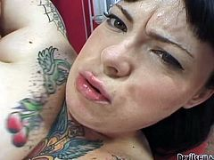 Dark haired hefty figured ugly way tattooed bitchy sex pot received powerful loping of her smelly loose twat in spoon way. Watch this fat bitch fucking in Fame Digital porn clip!