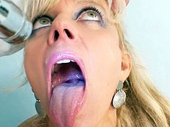 Her doc is a bit horny when feeling and rubbing that warm little cunt