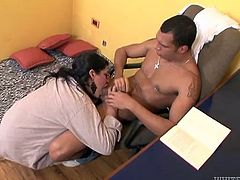 Watch this hot scene where this horny tranny and this guy have fun pleasing each other on camera as you hear both of them moan.