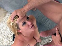 Watch steamy POV scene from My XXX Pass network. Chubby blondie gets throated by fat white cock sitting on her knees. Babe blows tat pecker like there's no tomorrow!