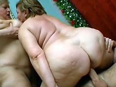 Massive dick is enough to please their nasty needs during threesome show