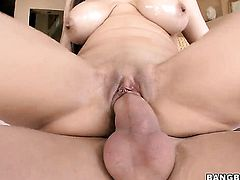 Yurizan Beltran is on the edge of nirvana with guys hard man meat in her mouth