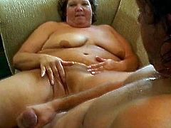 Mature fatty in a rough hardcore