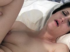 Take a look at this hardcore scene where the slutty babe Kimberly Kane is nailed by a big cock as you hear her moan.