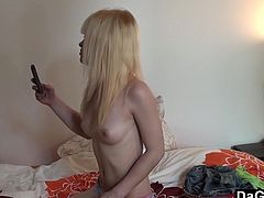 This hot french emo blonde is Tania. She is young and has an amazing body. If I were her I would spend most of my time taking selfies too.
