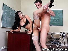 Mika Tan and her hard dicked fuck buddy John Espizedo enjoy sex too much to stop