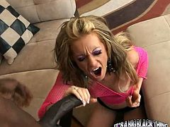 Horny and filthy bitch with blond hair gives a good blowjob and gets drilled by the big black dick. Watch in steamy My XXX Pass sex clip.
