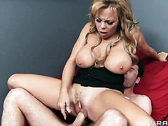 James Deen loves always wet warm love hole of Amber Lynn Bach with giant tits