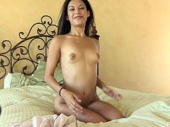 And you'd better watch this exclusive solo performance by Arianna! She is a sizzling Latina girl with a super hot and curvy body!
