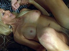 Get a load of this hardcore scene where the sexy milf Erica Lauren is gangbanged by big cocks that leave her out of breath.