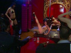Pretty brunette Ann Marie is getting naughty with some guy in a dark room. She lets him drive his boner into her pussy and they fuck in cowgirl position and doggy style.