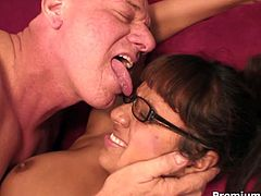 Jasmine Byrne is a busty secretary who gives her boss a nice footjob before he fucks her brains out.