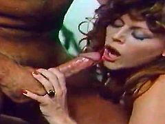 Awesome retro porn from The Classic Porn network! Curly brunette mommy with voluptuous body gives sloppy blowjob to her stud. Then her wet hairy cunt gets fucked in missionary and doggystyle positions.