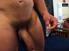 Big Cock Cums in Condom