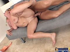Light haired horny bitch with big melons gets hammered her tight pussy with a shlong. Have a look in My XXX Pass sex clip.