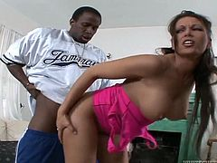 Make sure you get a load of this hardcore interracial scene where the horny babe Anna Nova has her tight asshole drilled by a big black cock.