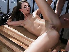 Jordan Ash whips out his meat stick to fuck Katie Jordin