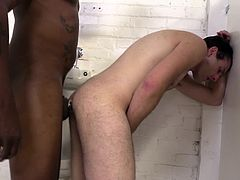 Share this with your friends! Watch two hot homosexuals having interracial sex in a public toilet. These gay dudes are crazy fellows!