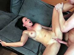 Ashli Ames gets her cunt munched and fucked in this wild free porn video set by Hustler. Watch her getting her tight cunt drilled deep and hard into a superb orgasm.