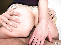 Wein Lewis has some time to get some anal pleasure with George Uhls erect fuck stick in her asshole
