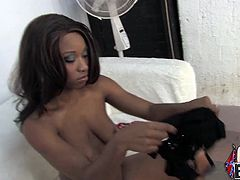 Sexy black bitch Imani Rose is doing all what she can to satisfy a few men. She pleases them with a handjob and then gets fucked from behind and facialed hard.