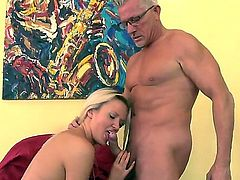 You would feel so hot and so kinky staring at how Andrea Francis and Christoph Clark are having fun together. Bitch becomes nude before starting to play with big stiff penis.