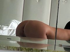 Attractive and hot young brunette with good shape gets her boopies and pussy fucked inthe bedroom. Watch in Mofos Network xxx video.