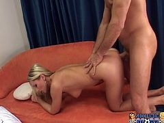 Hefty figured light head bodacious chick with massive Monkey Lumps received hardcore mouth fuck, doggy way and mish style pounding of her insatiable pussy and still wanted more fuck. Enjoy this busty wench in My XXX Pass porn video!