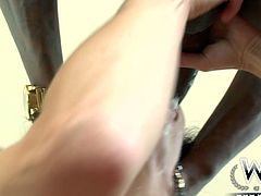 This raven haired hottie with big boobs and sexy booty got muffbusted hard by that long chocolate sausage. A bit later her wet pussy rewarded mish position fuck. Look at this hot interracial hammering in WCP Club porn video!