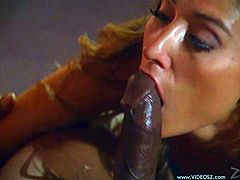 Take a look at this vintage video where the horny Monique Demoan sucks on this guy's big black cock before he drills her tight asshole.