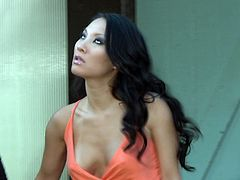 Enjoy this Asian brunette, with natural breasts and a shaved kitty, while she gets nailed hard by a steamy fellow and moans loudly.