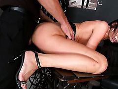 Brunette Tanner Mayes and her hot bang buddy enjoy sex too much to stop