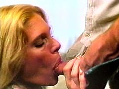 Horny dude fucks seductive retro babe and dumps all his semen on her belly and shaved pussy. Go for the steamy and provocative The Classic Porn video for free.