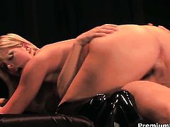 Lacie Heart gets her nice face cum drenched after sex with hot guy