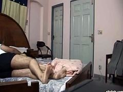 Kinky and filthy whore with big boobs gives a handjob meanwhile horny and sexy bitch gets her clit banged on the bed. Have a look in steamy The Indian Porn sex clip.