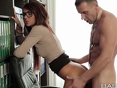 She must be the hottest one and today this angel is going to have a lot of fun with the archive officer. Babe will get her file though his cock.