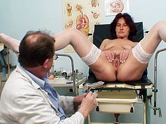 At her age such gyno exam causes her only naughty pleasures