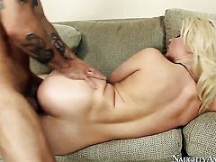 Oriental Anikka Albrite asks Alan Stafford for a good hard twat stuffing