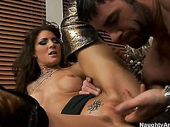 Charles Dera puts his fuck stick in unbelievably hot Jenni Lees wet spot