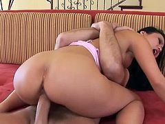 Checkout this secy Asian brunette milf named as Niya Yu in this hot hardcore video, where you will see her sucking on that big cock really deep.Then after long cock sucking action , she spreads her legs and gets her tight cunt fucked hard.