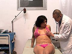 Make sure you have a look at this hot scene where this horny doctor sucks on the kinky shemale Stephanny Tricks's hard cock.