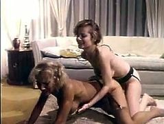 Slutty and sexy whores with light hair and nice faces fucks. One of them takes on the strapon and fucks her friend in doggystyle. Have a look at this babes in steamy The Classic Porn xxx clip.