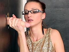 Slime Wave's hottie loves to get dirty while sucking on a tasty dick