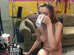 It was no sugar, so this light haired bitchy babe had to drink unsweetened tea. But later she pleased herself with sugary penis of her guy. Have a look at this hot blonde in My XXX Pass sex video!