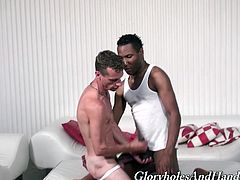 Black dude and a white dude immerse in the gay passion! They are going to have so much fun with each other and it's so hot to watch it.