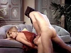 Kinky and horny whore with blond hair and nice face gives a blowjob and gets her butthole fucked in doggystyle. Have a look in steamy The Classic Porn xxx clip.
