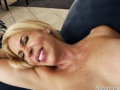 Asian Erica Lauren gives Johnny Castles erect tool a try