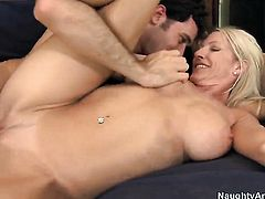 Emma Starr with huge jugs feels great with James Deens throbber deep in her love tunnel